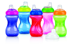 Nuby Kubek Easy Grip z osłoną na smoczek 300ml MIX ID9648