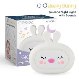 InnoGIO Silikonowa szumiąca lampka nocna GIOsleepy Bunny GIO-134