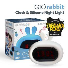 InnoGIO Silikonowa lampka nocna z budzikiem GIOrabbit GIO-135