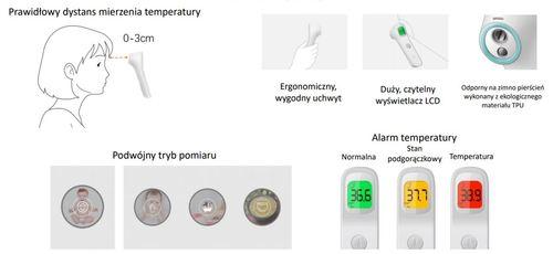 InnoGIO Bezdotykowy termometr czołowy na podczerwień GIOfast GIO-515 (4)