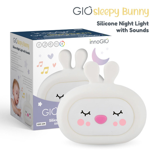 InnoGIO Silikonowa szumiąca lampka nocna GIOsleepy Bunny GIO-134 (1)