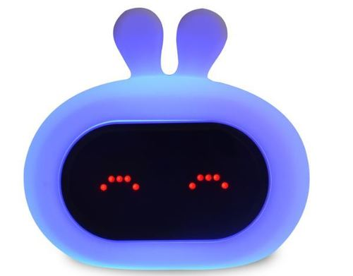 InnoGIO Silikonowa lampka nocna z budzikiem GIOrabbit GIO-135  (3)