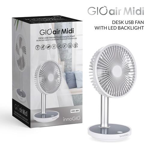 InnoGIO GIOair Midi Biurkowy wentylator USB z podświetleniem LED GIO-305 (1)