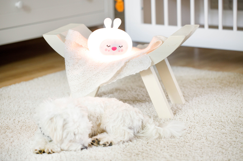 InnoGIO Silikonowa szumiąca lampka nocna GIOsleepy Bunny GIO-134 (17)