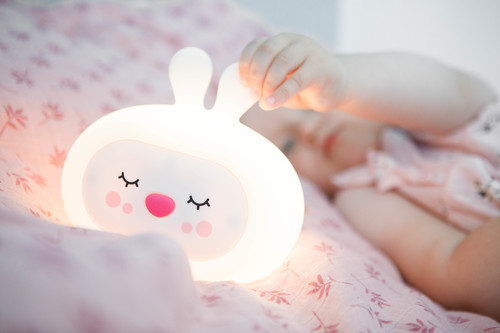 InnoGIO Silikonowa szumiąca lampka nocna GIOsleepy Bunny GIO-134 (8)