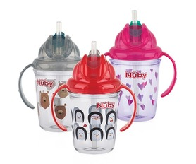 Nuby Tritanowy kubek niekapek 240ml MIX NV0414017